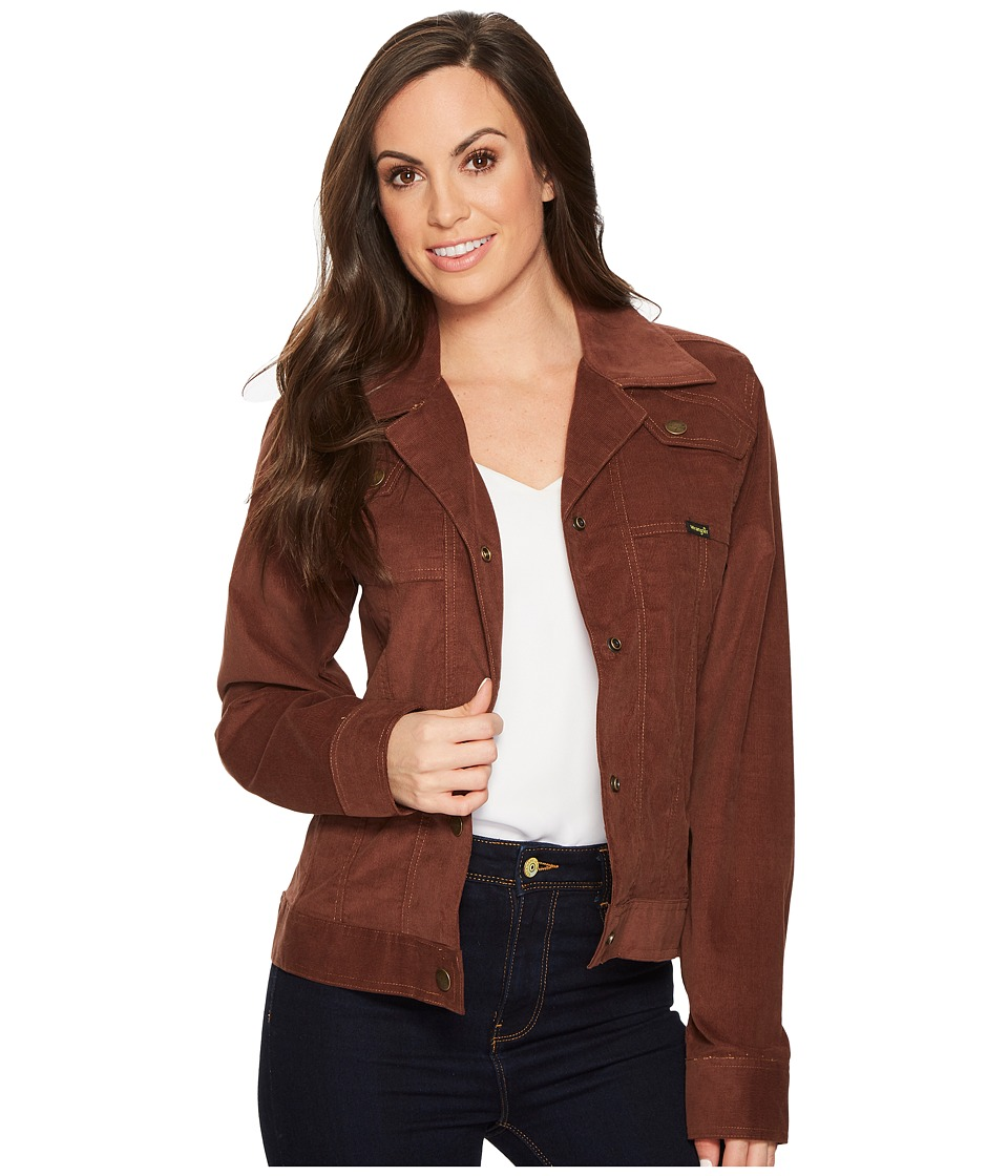 Wrangler - Corduroy Jacket (Brown) Women's Coat