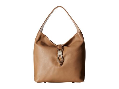 Dooney & Bourke Belvedere Logo Lock Shoulder Bag - Sand/Self Trim