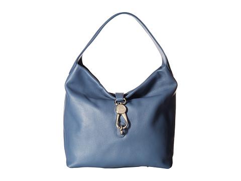 Dooney & Bourke Belvedere Logo Lock Shoulder Bag - Dusty Blue/Self Trim