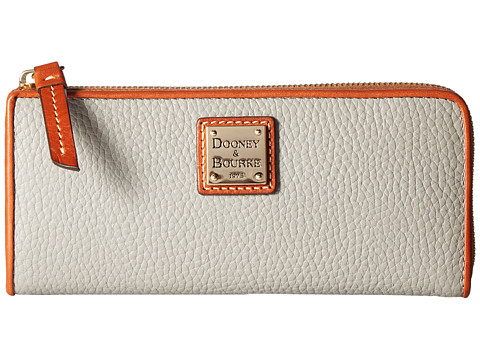 Dooney & Bourke Pebble Zip Clutch - Smoke/Tan Trim