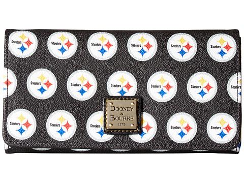 Dooney & Bourke NFL Signature Daphne Crossbody Wallet - Black/Black/Steelers