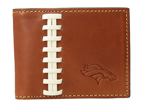 Dooney & Bourke NFL Leather Wallets Credit Card Billfold - Tan/Tan/Broncos