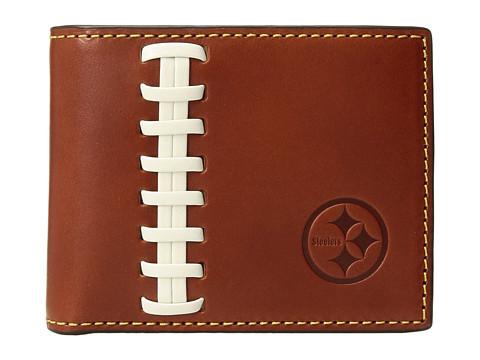 Dooney & Bourke NFL Leather Wallets Credit Card Billfold - Tan/Tan/Steelers