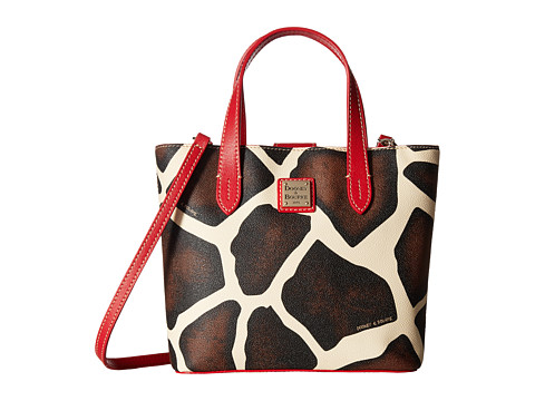 Dooney & Bourke Serengeti Mini Waverly - Giraffe/Red Trim