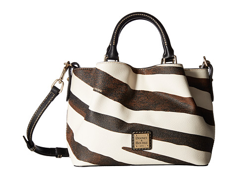 Dooney & Bourke Serengeti Mini Barlow - Zebra/Black Trim