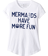 The Original Retro Brand Kids - Mermaids Have More Fun Crew Neck Slub Tee (Big Kids)