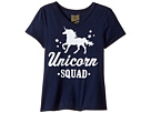 The Original Retro Brand Kids - Unicon Squad V-Neck Short Sleeve Tee (Big Kids)