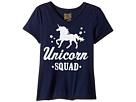 The Original Retro Brand Kids Unicorn Squad V-Neck Short Sleeve Tee (Big Kids)