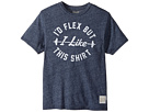 The Original Retro Brand Kids - I'd Flex But I Like This Shirt Short Sleeve Mocktwist Tee (Big Kids)