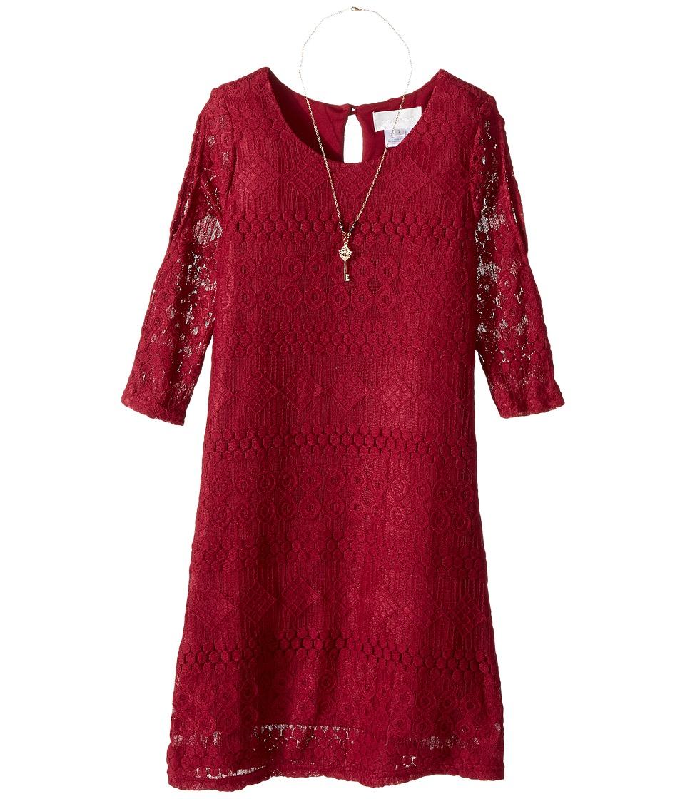Us Angels - 3/4 Sleeve Cold Shoulder Trapeze Dress