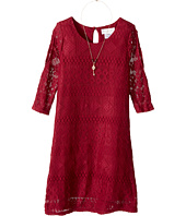 Us Angels - 3/4 Sleeve Cold Shoulder Trapeze Dress (Big Kids)