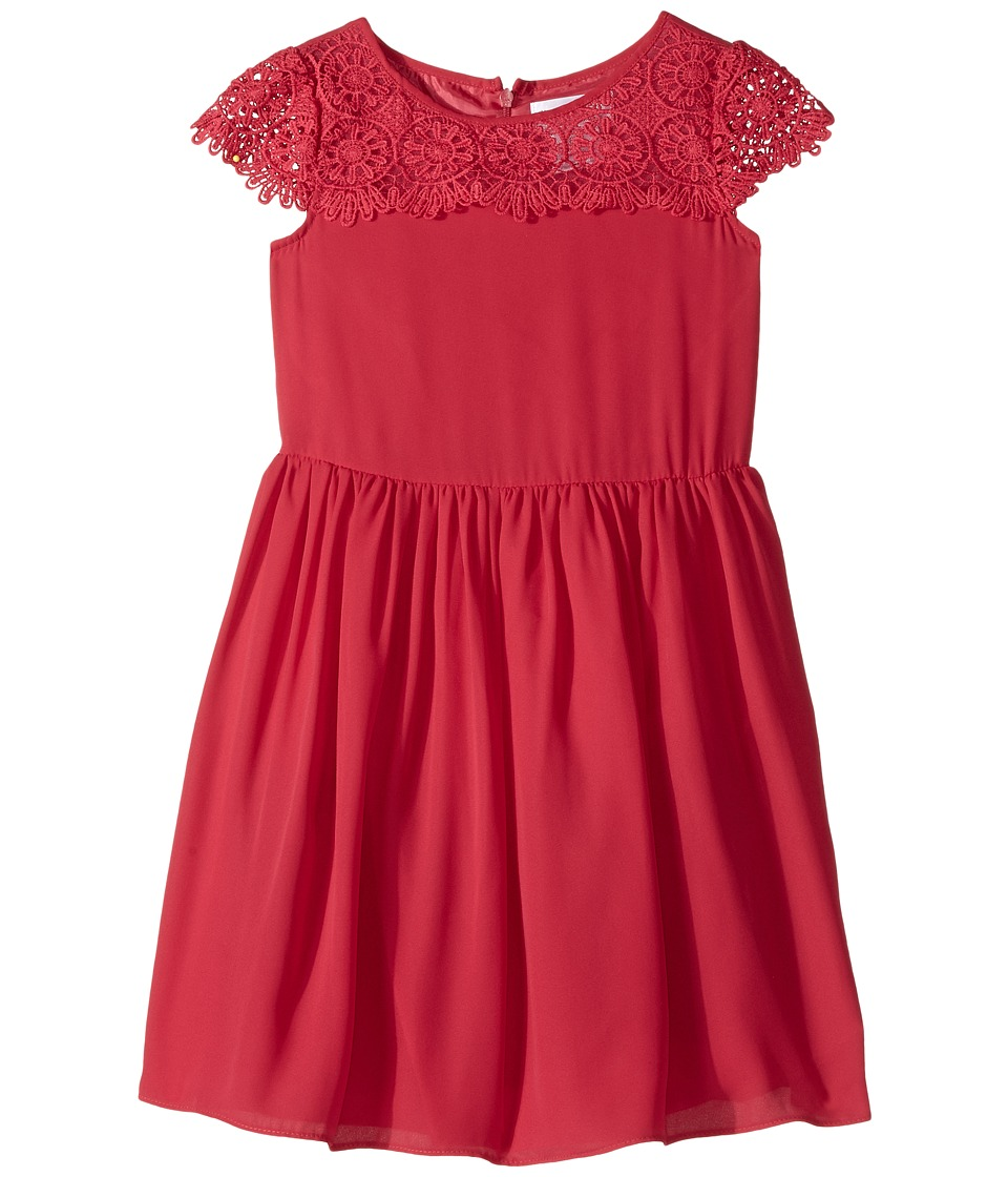 Us Angels - Scalloped Cap Sleeve with Full Skirt Dress