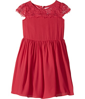 Us Angels - Scalloped Cap Sleeve with Full Skirt Dress (Toddler/Little Kids)