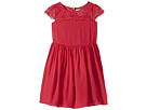 Scalloped Cap Sleeve with Full Skirt Dress (Toddler/Little Kids)