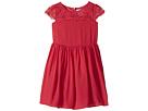 Us Angels - Scalloped Cap Sleeve with Full Skirt Dress (Toddler/Little Kids)