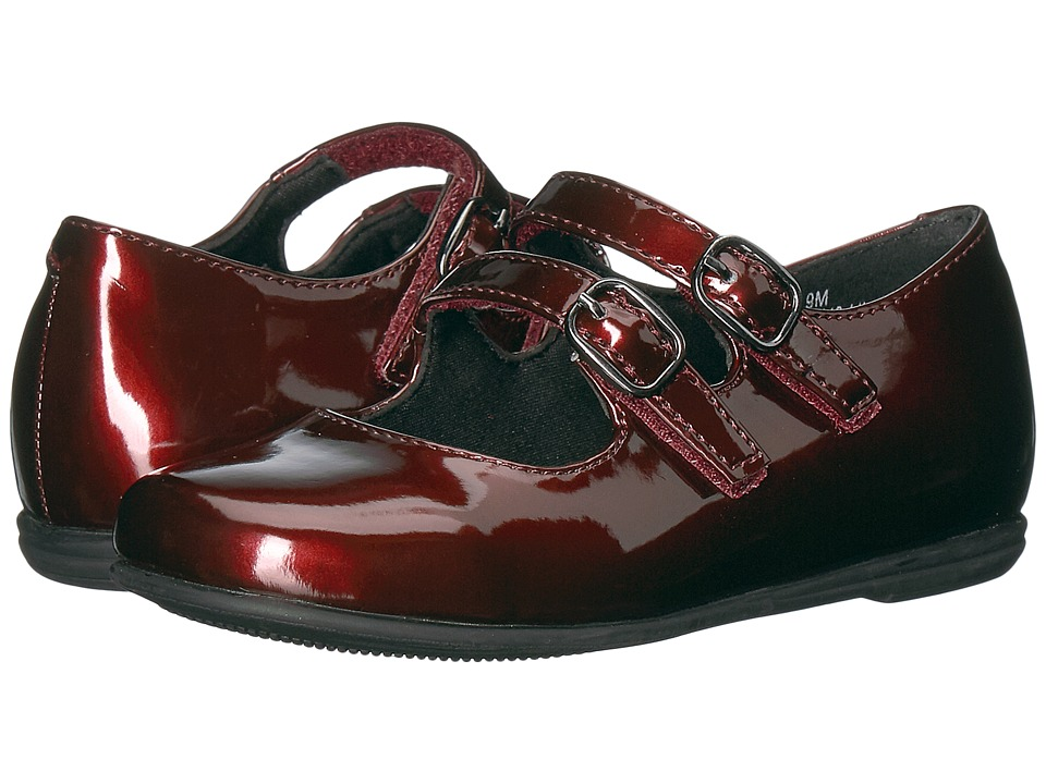 Rachel Kids Lil Shara (Toddler) (Burgundy Patent) Girl's Shoes
