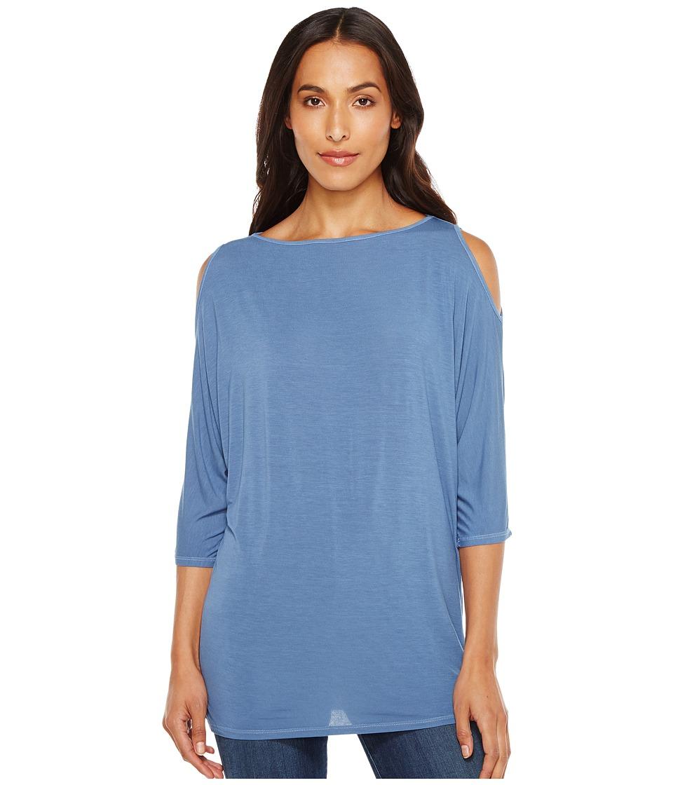 Michael Stars - Lycra Jersey 3/4 Sleeve Cold Shoulder Tunic