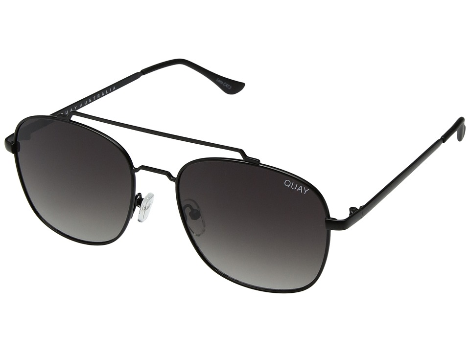 QUAY AUSTRALIA To Be Seen (Black/Smoke) Fashion Sunglasses