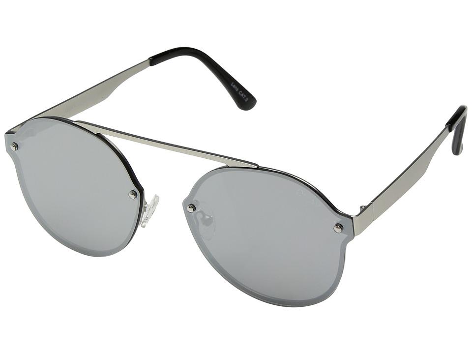 QUAY AUSTRALIA Camden Heights (Silver/Silver) Fashion Sunglasses