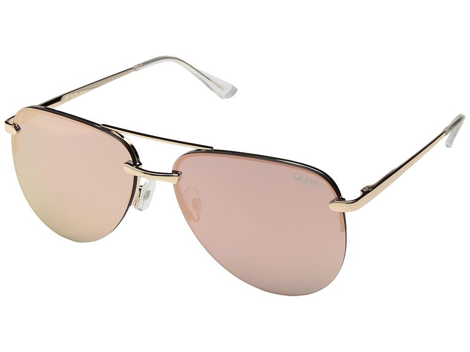 QUAY AUSTRALIA The Playa (Gold/Pink) Fashion Sunglasses