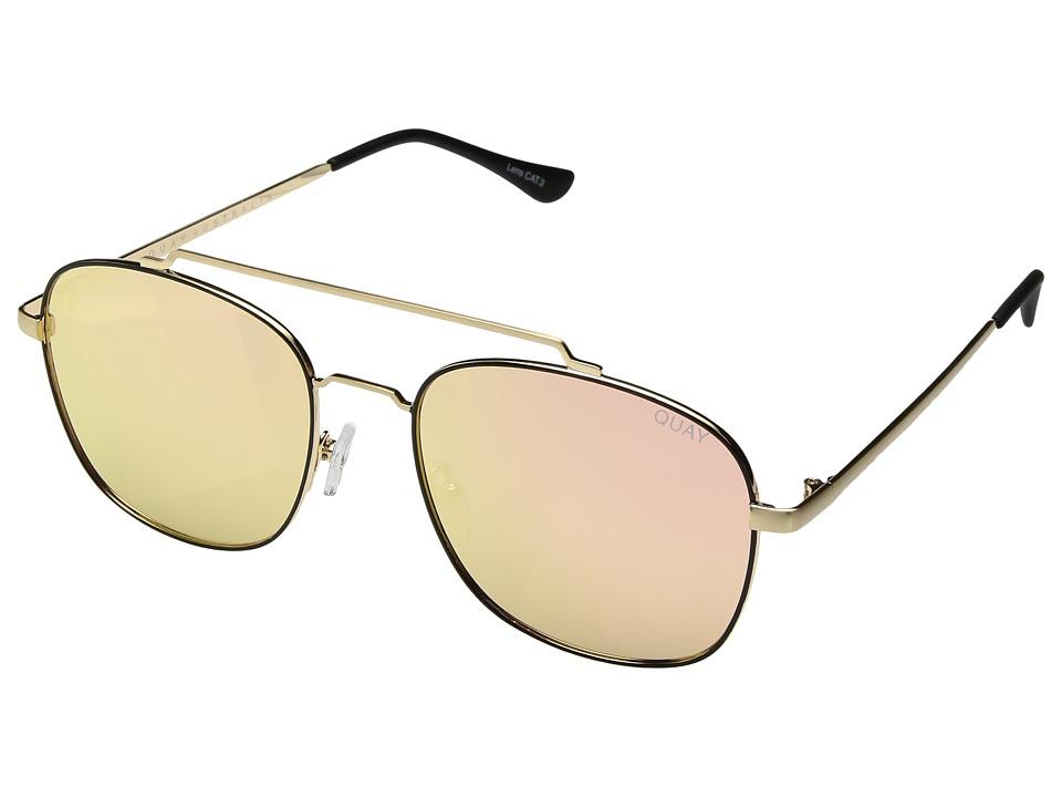 QUAY AUSTRALIA To Be Seen (Gold/Pink) Fashion Sunglasses