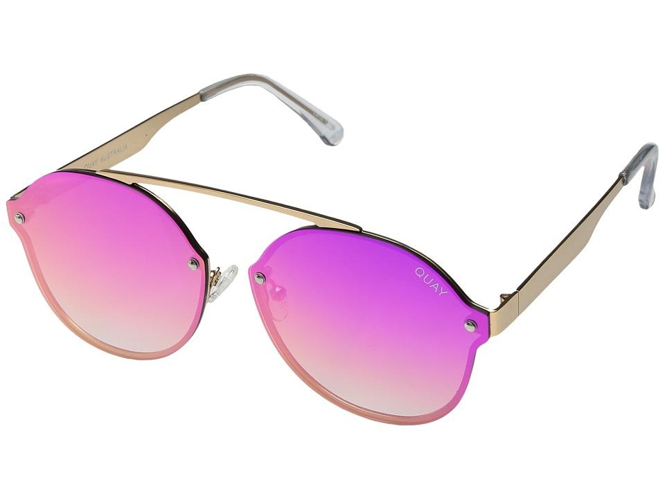 QUAY AUSTRALIA Camden Heights (Gold/Pink) Fashion Sunglasses