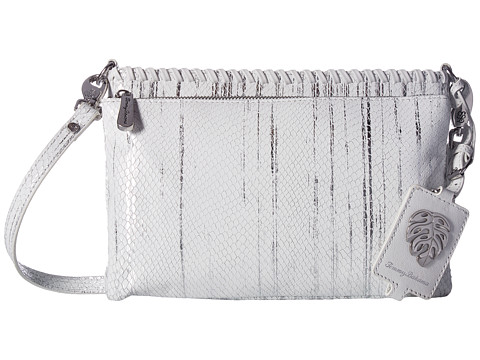 Tommy Bahama Exumas Double Top Zip Crossbody - Silver Snake