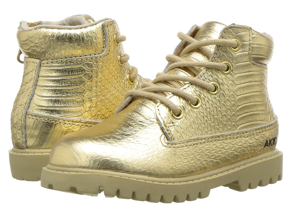AKID Brand Atticus (Toddler/Little Kid/Big Kid) (Gold) Kid's Shoes