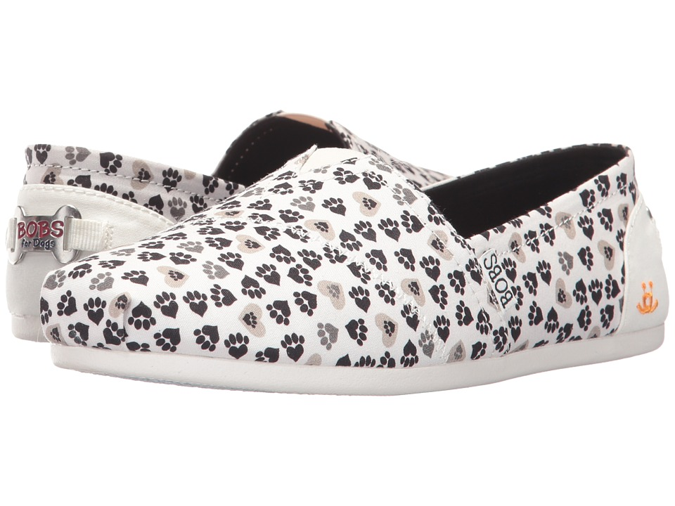 BOBS from SKECHERS Plush Micro Paw (White) Women