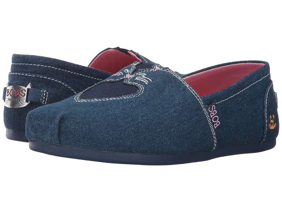 BOBS from SKECHERS Plush Catnip Cuddle (Denim) Women