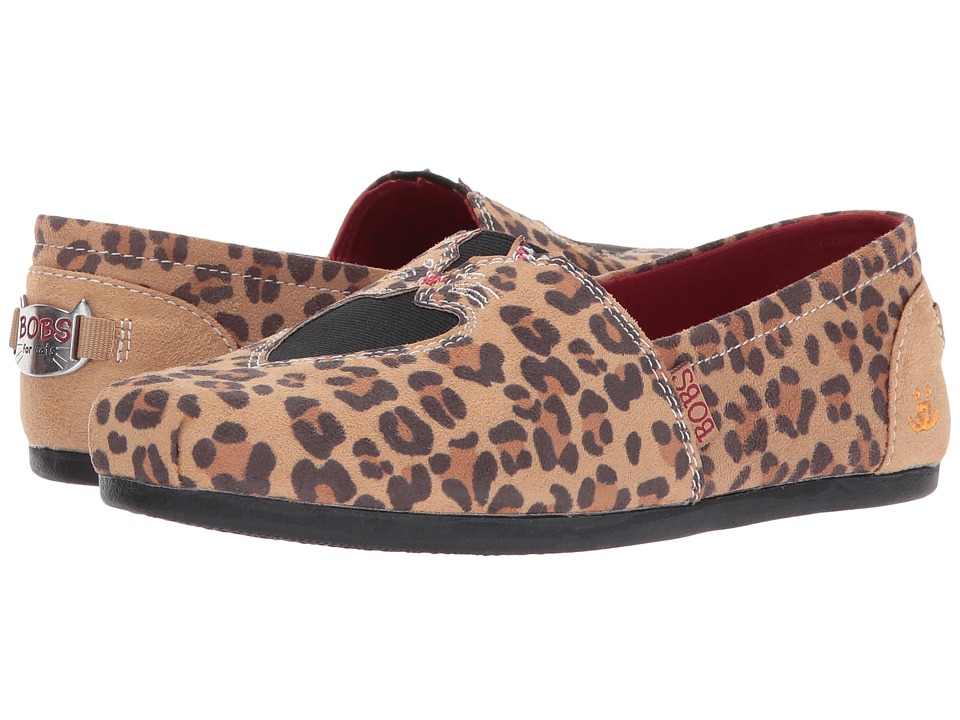BOBS from SKECHERS Plush Catnip Cuddle (Leopard) Women