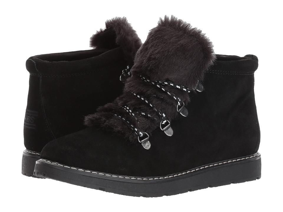 Retro Boots, Granny Boots, 70s Boots BOBS from SKECHERS - Bobs Alpine - Fur Eva BlackBlack Womens Shoes $42.99 AT vintagedancer.com