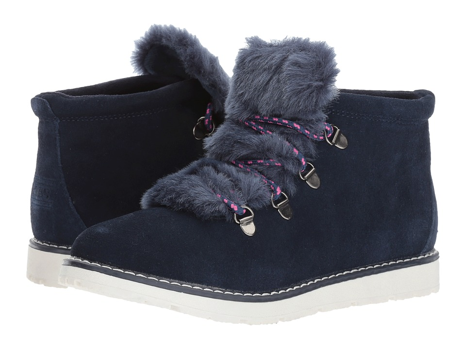 BOBS from SKECHERS Bobs Alpine Fur Eva (Navy) Women