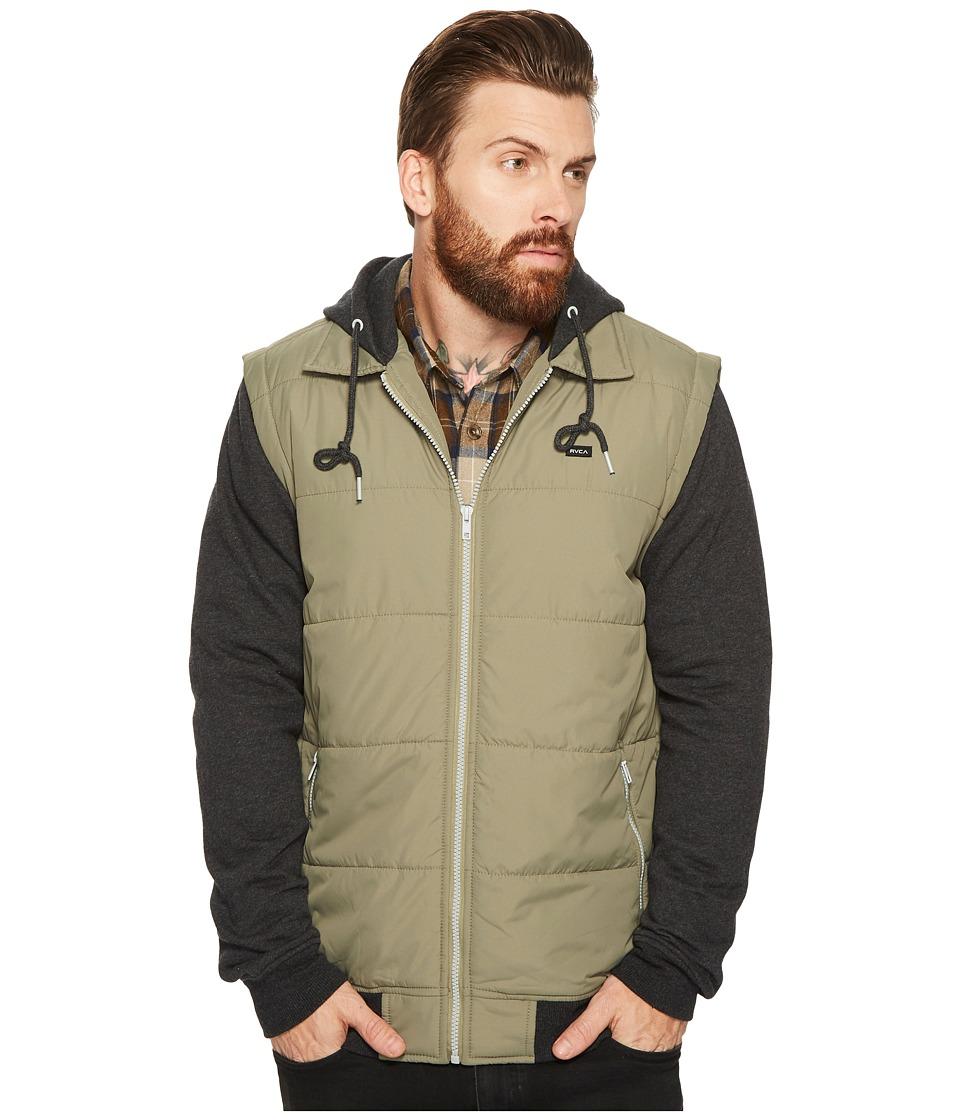 RVCA Puffer Zips Jacket (Fatigue) Men's Coat