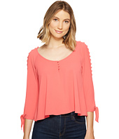 XOXO - Button Up Cold Shoulder Top