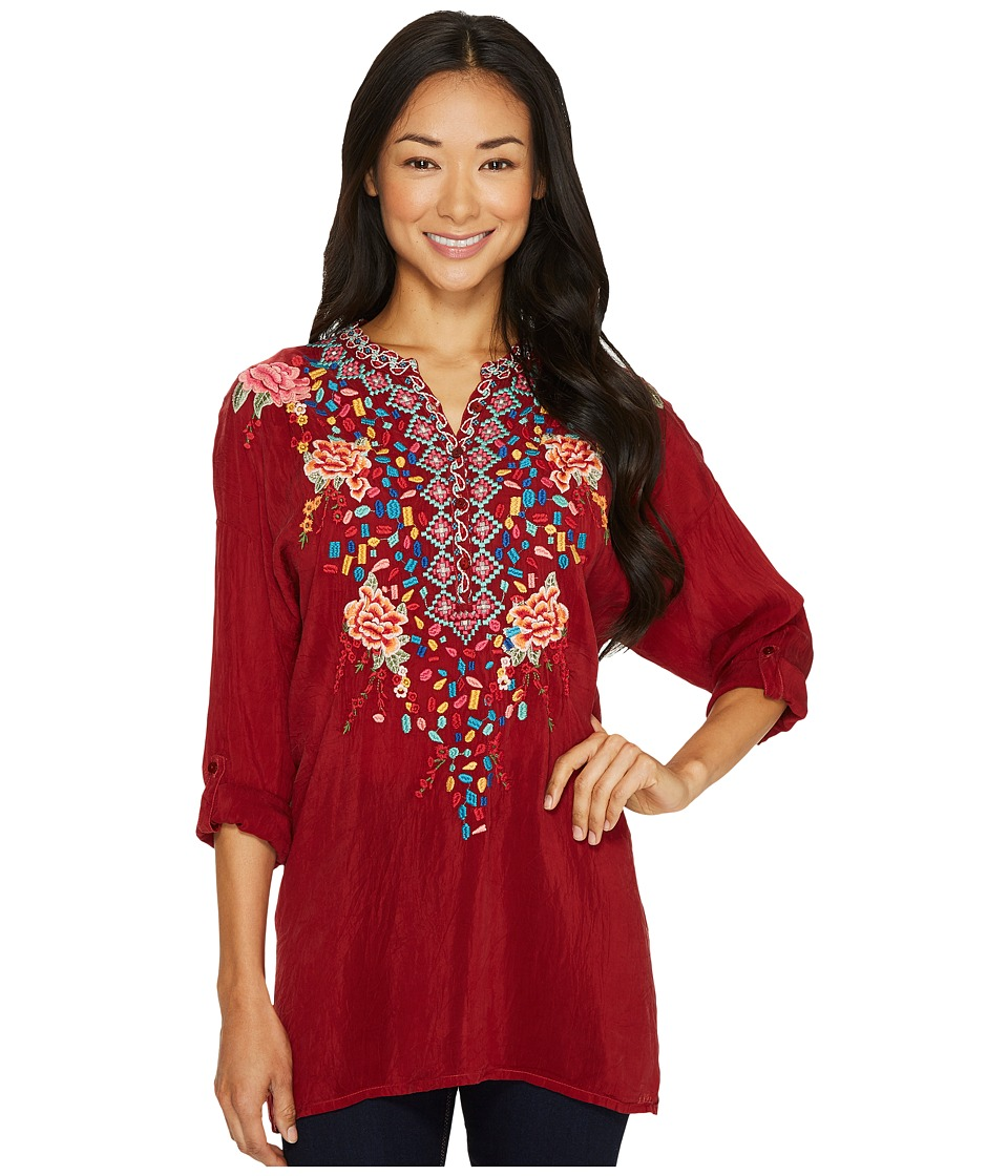 Johnny Was - Gemstone Blouse (Port) Women's Blouse