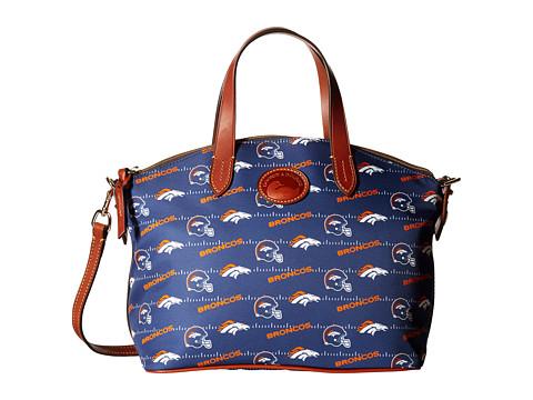 Dooney & Bourke NFL Nylon Small Gabriella Satchel - Navy/Tan/Broncos
