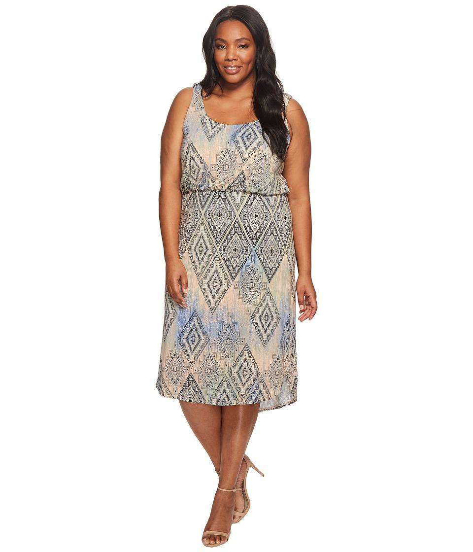 Tart Plus Size Soraya Midi Dress (Aztec Overlay Diamonds) Women