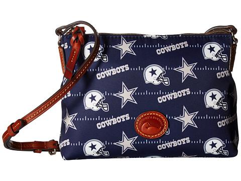 Dooney & Bourke NFL Nylon Crossbody Pouchette - Grey/Tan/Cowboys