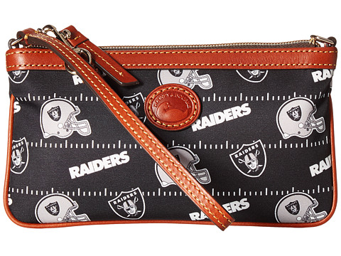 Dooney & Bourke NFL Nylon Large Slim Wristlet - Black/Black/Raiders