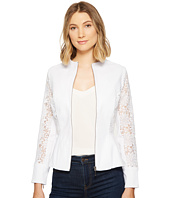 XOXO - Lace Peplum Zip Jacket