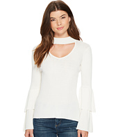 XOXO - Ruffle Tier Sleeve Mock Neck