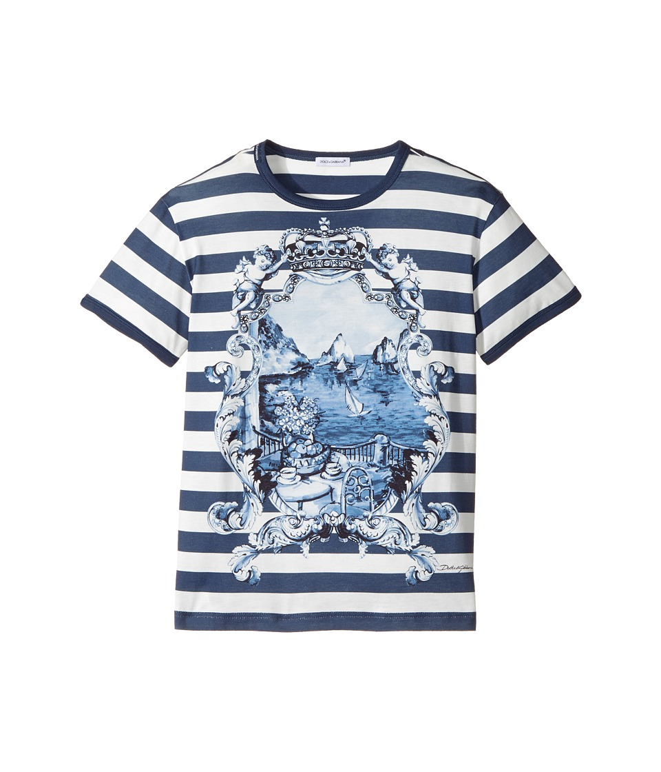 Dolce & Gabbana Kids - Capri Bold Stripe Maiolica T