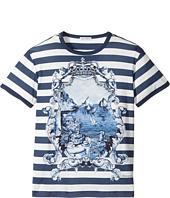 Dolce & Gabbana Kids - Capri Bold Stripe Maiolica T-Shirt (Big Kids)