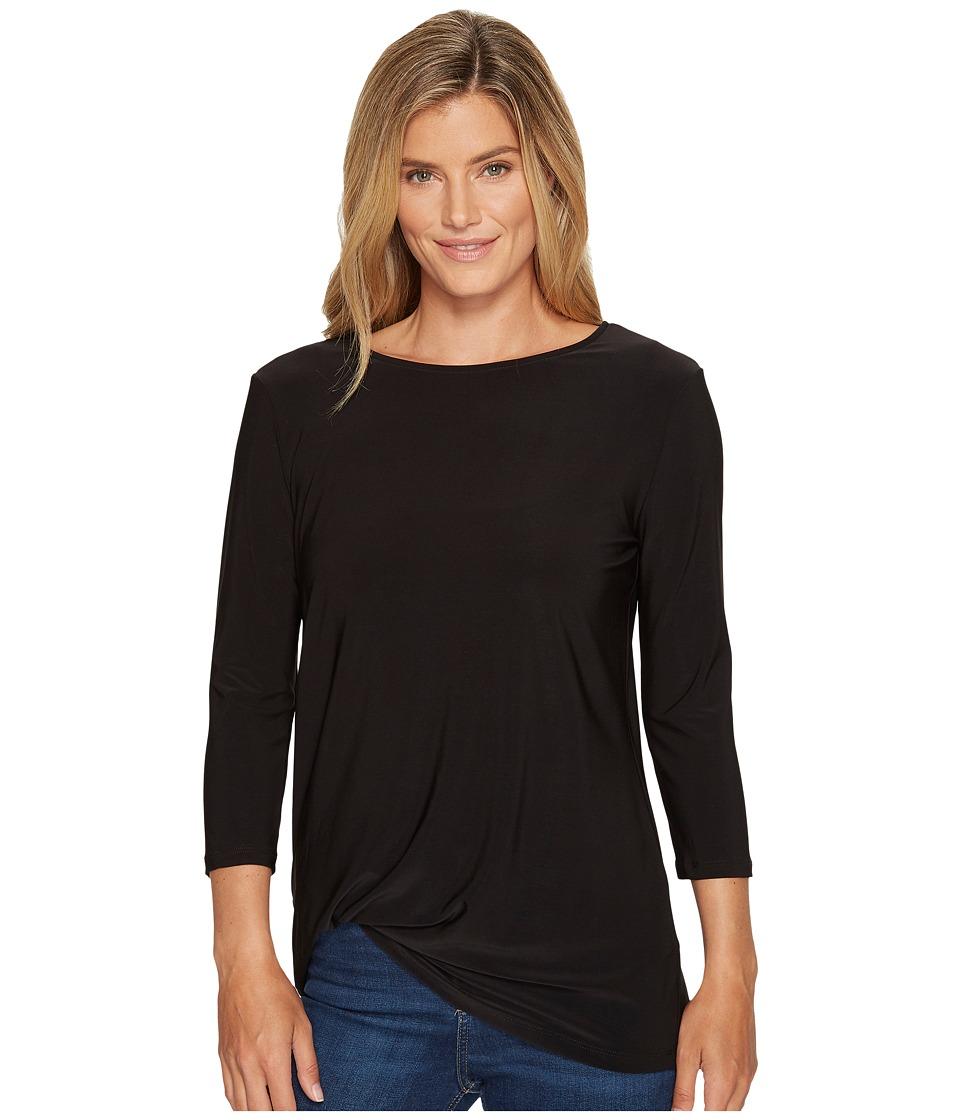 Lisette L Montreal - Emma Jersey Knit Tee (Black) Womens T Shirt