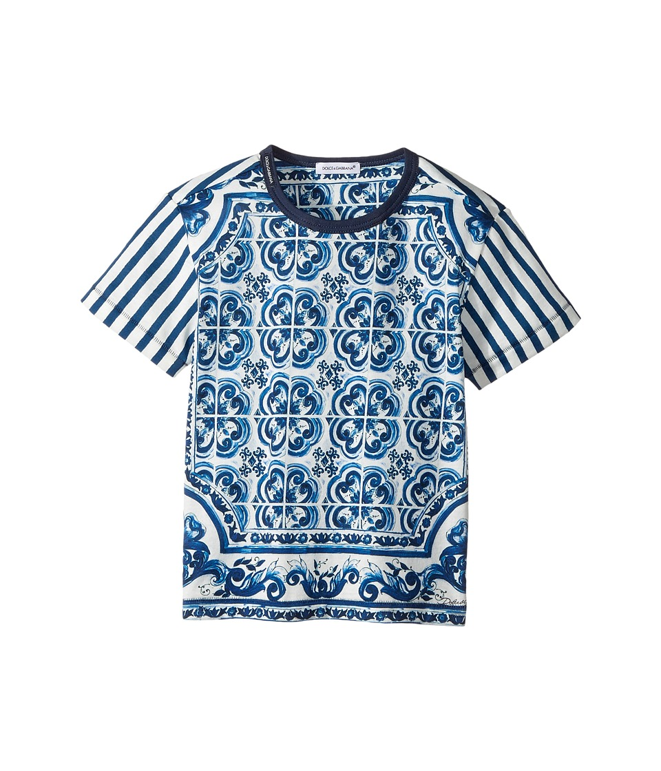 Dolce & Gabbana Kids - Capri Striped Maiolica T-Shirt