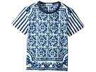 Dolce & Gabbana Kids - Capri Striped Maiolica T-Shirt (Toddler/Little Kids)