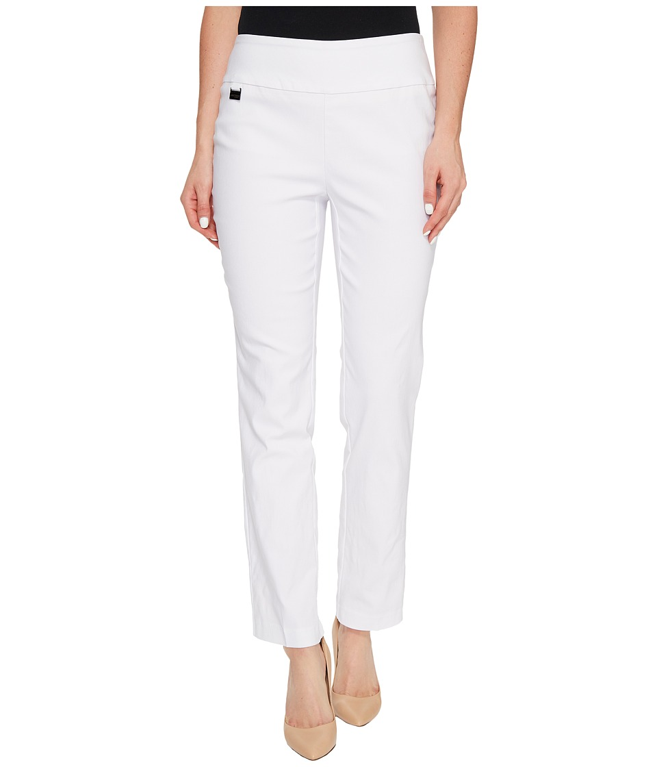 Lisette L Montreal - Solid Magical Lycra Ankle Pants (White) Womens Casual Pants