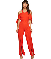 XOXO - Cold Shoulder V-Neck Jumpsuit w/ Slits