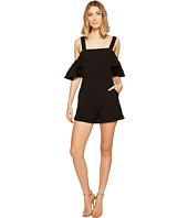 XOXO - Cold Shoulder Ruffle Sleeve Romper